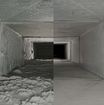 Before & After - HVAC Cleaning Services