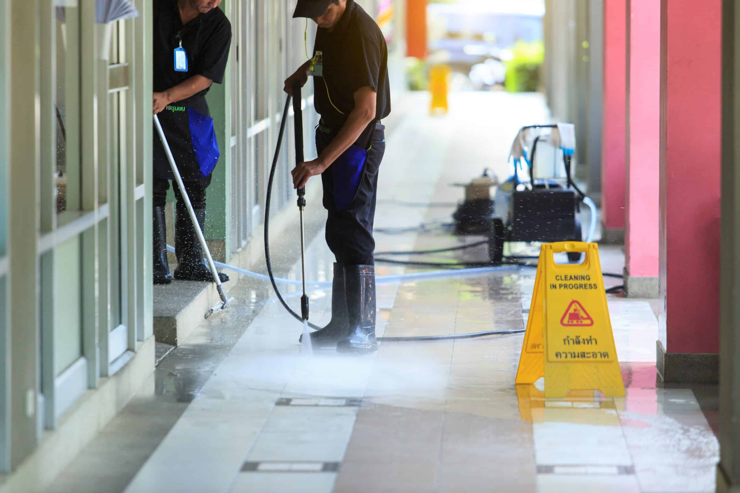 Restaurant Power Washing by Action Duct